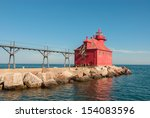 Lighthouse at Sturgeon Bay Ship Canal Pierhead , Door County , Wisconsin