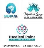 medical logo with brain lotus...   Shutterstock .eps vector #1540847210