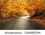 Autumn Landscape With Road And...