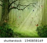 Fantasy Forest With Colorful...