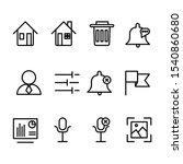 user interface icon set line...
