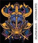 viking skull old school with... | Shutterstock .eps vector #1540866593