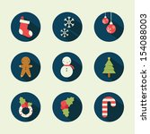 christmas icons | Shutterstock .eps vector #154088003