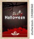 halloween party. poster happy... | Shutterstock .eps vector #154088360