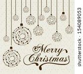 christmas design over dotted... | Shutterstock .eps vector #154089053