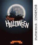 halloween party. poster happy... | Shutterstock .eps vector #154089248