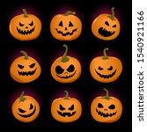 set of vector pumpkins for... | Shutterstock .eps vector #1540921166