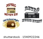 set of old vintage radio... | Shutterstock .eps vector #1540922246