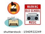 set of old vintage radio... | Shutterstock .eps vector #1540922249