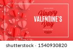 valentine's day sale banner in... | Shutterstock .eps vector #1540930820
