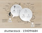 speech bubble with drawing... | Shutterstock .eps vector #154094684