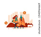 fashionable  young muslim and... | Shutterstock .eps vector #1540964669