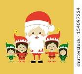 christmas design over yellow... | Shutterstock .eps vector #154097234