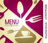 abstract restaurant menu | Shutterstock .eps vector #154099088