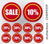 discount labels red circle | Shutterstock .eps vector #154099559