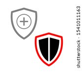 set of simple icons with shield ... | Shutterstock .eps vector #1541011163