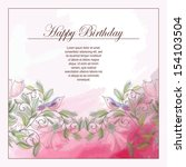 card with a pattern from... | Shutterstock .eps vector #154103504
