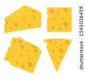 cheese set vector illustration... | Shutterstock .eps vector #1541036459