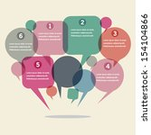 infographics design with speech ... | Shutterstock .eps vector #154104866