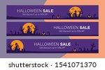 happy halloween sale mobile... | Shutterstock .eps vector #1541071370