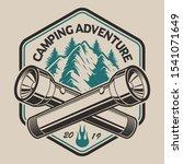 t shirt design with a mountain  ... | Shutterstock .eps vector #1541071649