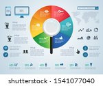concept of keyword research or... | Shutterstock .eps vector #1541077040
