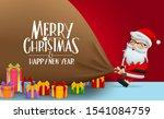 christmas character santa claus ... | Shutterstock .eps vector #1541084759