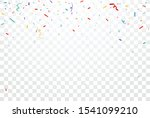 colorful confetti and ribbon... | Shutterstock .eps vector #1541099210