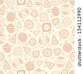 doodle art seamless pattern | Shutterstock .eps vector #154112990