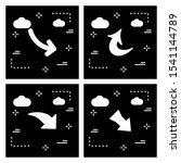 set of arrow pixel perfect... | Shutterstock . vector #1541144789