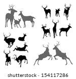 A Set Of Deer Silhouettes...