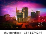 abstract purple illustration... | Shutterstock . vector #1541174249