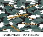 camouflage caution pattern... | Shutterstock .eps vector #1541187359