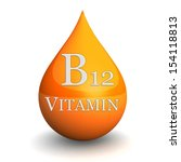 vitamin b12  isolated on white... | Shutterstock . vector #154118813