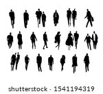 vector black silhouettes of... | Shutterstock .eps vector #1541194319