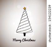 hand drawn christmas vector... | Shutterstock .eps vector #154122239