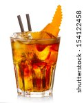 manhatten alcohol cocktail with ... | Shutterstock . vector #154122458