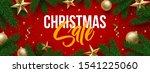 cchristmas sale banner design.... | Shutterstock .eps vector #1541225060