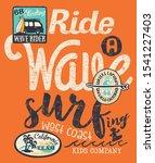 california wave rider surfing... | Shutterstock .eps vector #1541227403