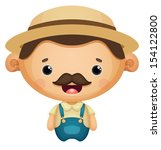 agriculture,bumpkin,caricature,cartoon,character,country,cute,design,drawing,farm,farmer,hat,hay,hick,hillbilly