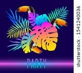 polygonal toucan bird and...   Shutterstock .eps vector #1541240036