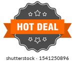 hot deal isolated seal sign.... | Shutterstock .eps vector #1541250896