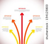 infographics template with... | Shutterstock .eps vector #154125803