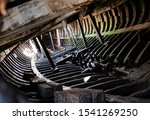 Inside Of An Old Wrecked Boat...