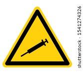 warning sharps disposal symbol... | Shutterstock .eps vector #1541274326
