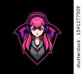 gamer girl mascot gaming esport ... | Shutterstock .eps vector #1541277509