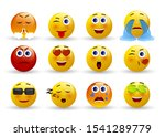 set of emoticons. set of emoji. ... | Shutterstock .eps vector #1541289779