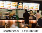 Blurred Image Of A Fast Food...