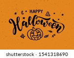 happy halloween   handwritten... | Shutterstock .eps vector #1541318690