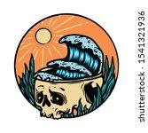 skull skeleton horror halloween ...   Shutterstock .eps vector #1541321936